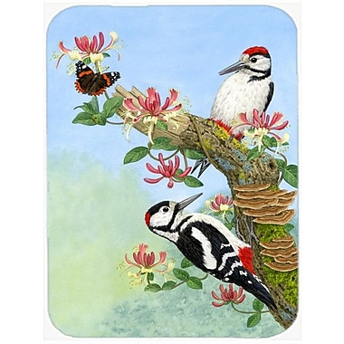 Caroline's Treasures Woodpeckers Glass Cutting Board