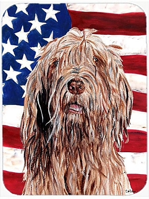 Caroline's Treasures Patriotic Otterhound w/ American Flag USA Glass Cutting Board