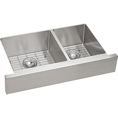 Elkay Crosstown 32'' x 20'' Double Basin Apron Kitchen Sink