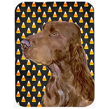 Caroline's Treasures Halloween Candy Corn Field Spaniel Portrait Glass Cutting Board