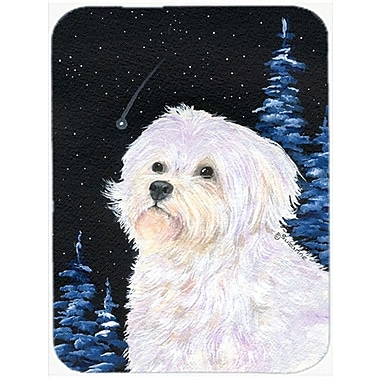 Caroline's Treasures Starry Night Maltese Glass Cutting Board