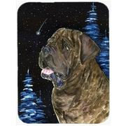 Caroline's Treasures Starry Night Mastiff Glass Cutting Board