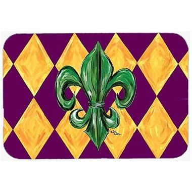 Caroline's Treasures Fleur de lis Mardi Gras Glass Cutting Board