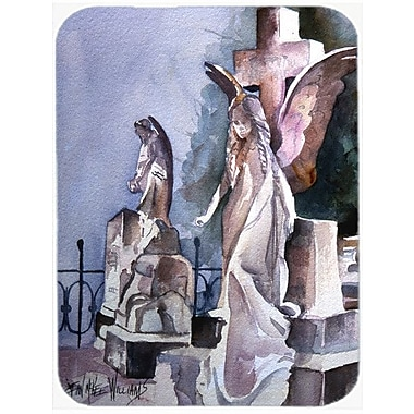 Caroline's Treasures Angels in the Cemetery w/ Cross Glass Cutting Board