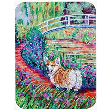 Caroline's Treasures Corgi Footbridge Glass Cutting Board
