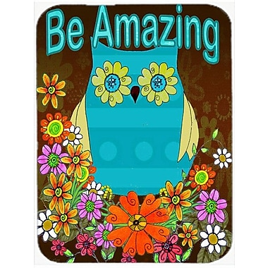 Caroline's Treasures Be Amazing Owl Glass Cutting Board
