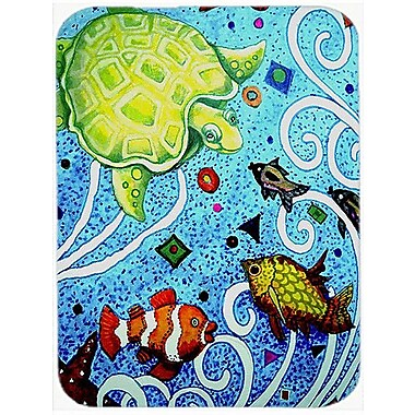 Caroline's Treasures Turtle Time Turtle Glass Cutting Board