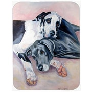 Caroline's Treasures Natural Great Danes Glass Cutting Board