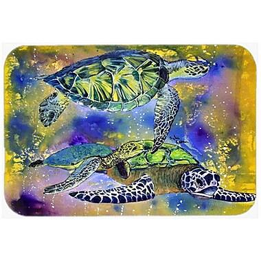 Caroline's Treasures Turtle Glass Cutting Board