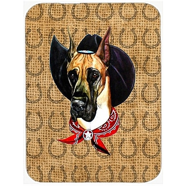 Caroline's Treasures Great Dane Dog Country Lucky Horseshoe Glass Cutting Board
