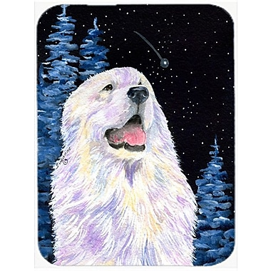 Caroline's Treasures Starry Night Great Pyrenees Glass Cutting Board