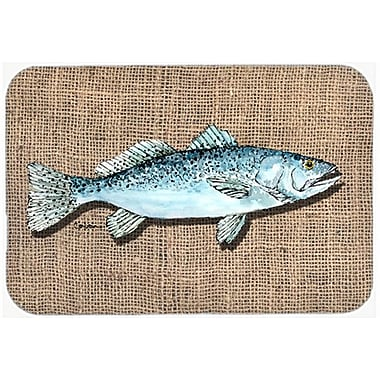 Caroline's Treasures Speckled Trout Fish Glass Cutting Board