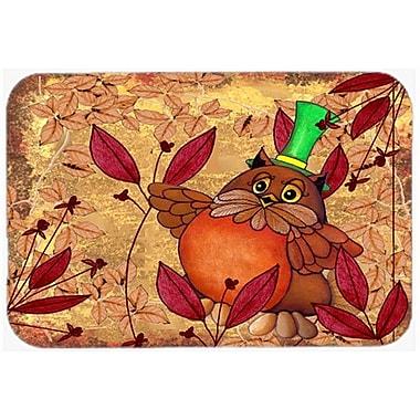 Caroline's Treasures Hootie Fall Owl Glass Cutting Board