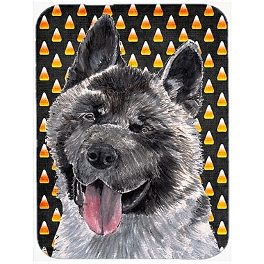 Caroline's Treasures Halloween Candy Corn Akita Glass Cutting Board