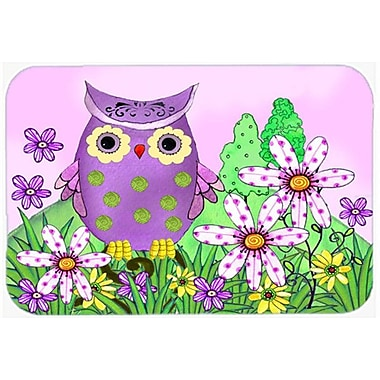 Caroline's Treasures Who is Your Friend Owl Glass Cutting Board