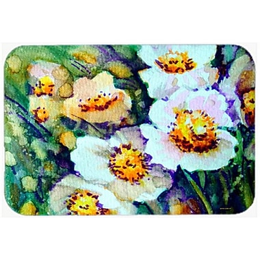Caroline's Treasures Raindrops on Poppies Glass Cutting Board