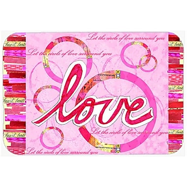 Caroline's Treasures Love Is a Circle Valentine's Day Glass Cutting Board