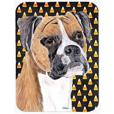 Caroline's Treasures Halloween Candy Corn Uncropped Ears Boxer Glass Cutting Board
