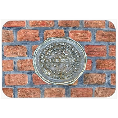 Caroline's Treasures New Orleans Watermeter on Bricks Glass Cutting Board