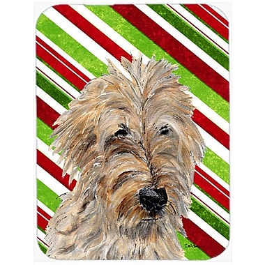 Caroline's Treasures Goldendoodle 2 Candy Cane Christmas Glass Cutting Board