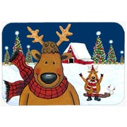 Caroline's Treasures The Tree Farmers Reindeer Christmas Glass Cutting Board