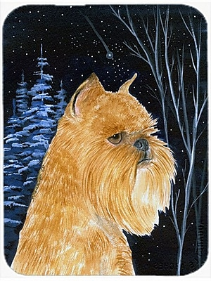 Caroline's Treasures Starry Night Brussels Griffon Glass Cutting Board