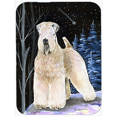 Caroline's Treasures Starry Night Soft Coated Wheaten Terrier Glass Cutting Board