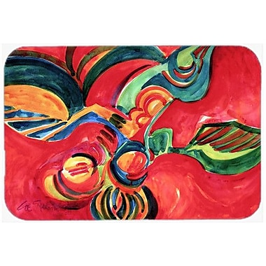 Caroline's Treasures Flowers and Berries Glass Cutting Board