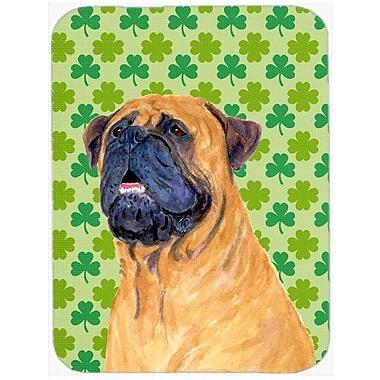 Caroline's Treasures Shamrock Lucky Irish Mastiff St. Patrick's Day Portrait Glass Cutting Board