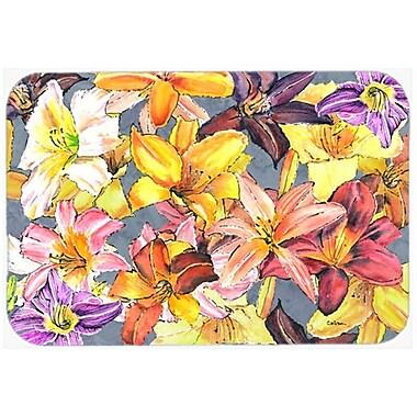 Caroline's Treasures Day Lilies Glass Cutting Board