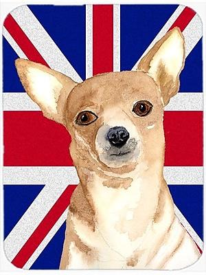 Caroline's Treasures Union Jack Chihuahua w/ English British Flag Glass Cutting Board