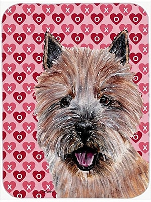 Caroline's Treasures Norwich Terrier Hearts and Love Glass Cutting Board