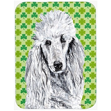 Caroline's Treasures Shamrock Lucky Irish Standard Poodle St. Patrick's Day Glass Cutting Board