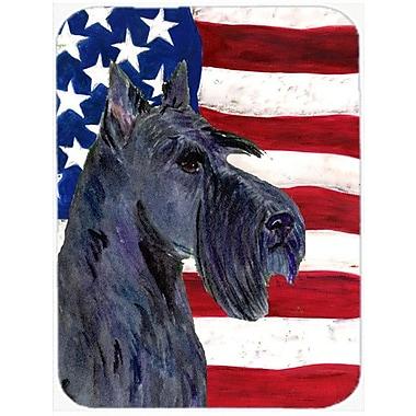 Caroline's Treasures Patriotic USA American Flag w/ Scottish Terrier Glass Cutting Board