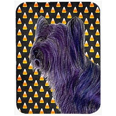 Caroline's Treasures Halloween Candy Corn Skye Terrier Portrait Glass Cutting Board