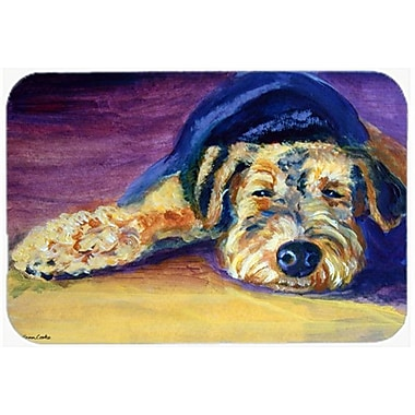 Caroline's Treasures Snoozer Airedale Terrier Glass Cutting Board