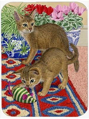 Caroline's Treasures Abyssinian Kitten Glass Cutting Board
