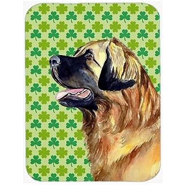 Caroline's Treasures Shamrock Lucky Irish Leonberger St. Patrick's Day Portrait Glass Cutting Board