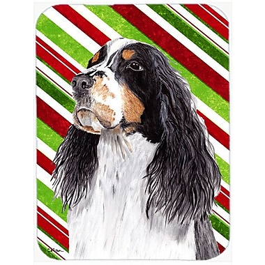 Caroline's Treasures Springer Spaniel Candy Cane Holiday Christmas Glass Cutting Board