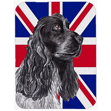 Caroline's Treasures Union Jack Cocker Spaniel w/ English British Flag Glass Cutting Board