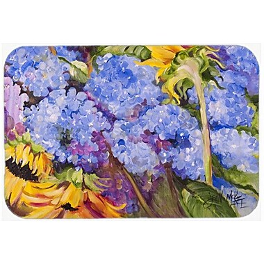 Caroline's Treasures Hydrangeas and Sunflowers Glass Cutting Board