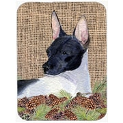 Caroline's Treasures Rat Terrier Glass Cutting Board