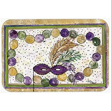 Caroline's Treasures Mardi Gras Glass Cutting Board