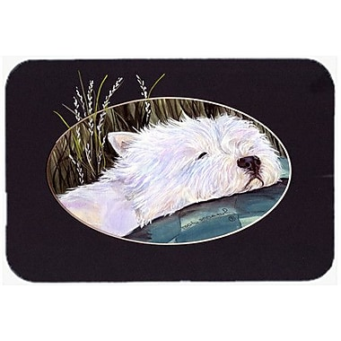 Caroline's Treasures Westie Glass Cutting Board