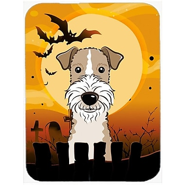 Caroline's Treasures Halloween Wire Haired Fox Terrier Glass Cutting Board