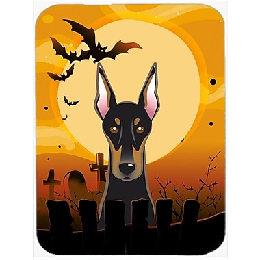 Caroline's Treasures Halloween Doberman Glass Cutting Board