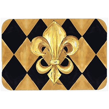 Caroline's Treasures Fleur de lis New Orleans Glass Cutting Board