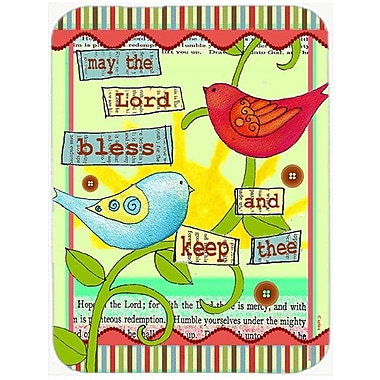 Caroline's Treasures May the Lord Bless You and Keep You Inspirational Glass Cutting Board
