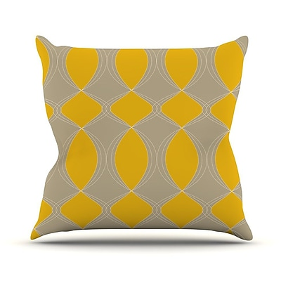 KESS InHouse Geometries Outdoor Throw Pillow