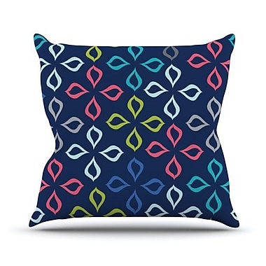 KESS InHouse Simple Flower Outdoor Throw Pillow